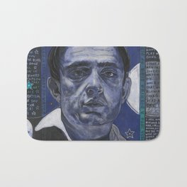 Young Johnny in Blue Bath Mat