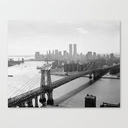 Photograph of NYC and The Williamsburg Bridge Canvas Print