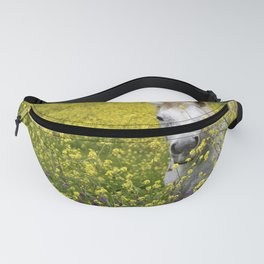 White Horse in a Yellow Pasture Fanny Pack
