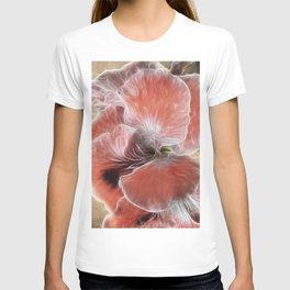 Royal Pelargonium with Water Droplets T-shirt
