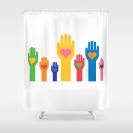 no to racism Shower Curtain