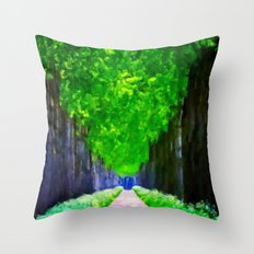 Leaves In The Sky - Painting Style Throw Pillow
