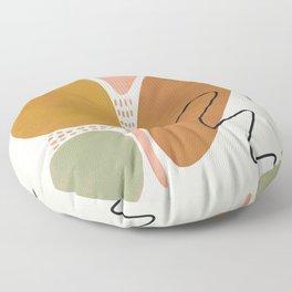 Mid Century Modern Abstract Floor Pillow