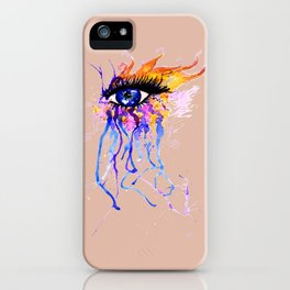 Flamy Watercolor Eye iPhone Case