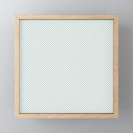 Stars On White Christmas Pattern Framed Mini Art Print
