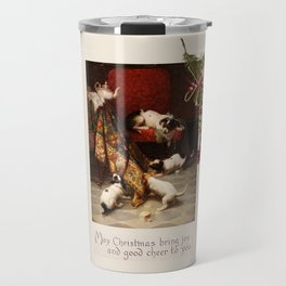 Pet Lover Christmas Greeteengs Travel Mug