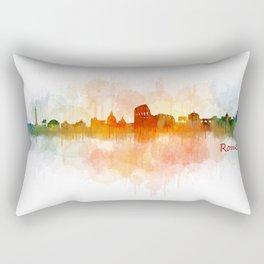 Rome city skyline HQ v03 Rectangular Pillow