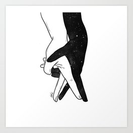 Let's forget and dance. Art Print