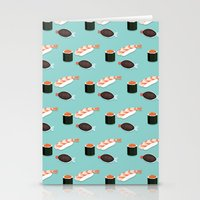 sushi Stationery Cards featuring Sushi by Bronte Poynts