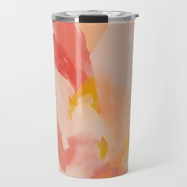 Abstract Peach Watercolor Travel Mug