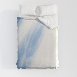 Blue Mint Tie Dye Abstract Duvet Cover