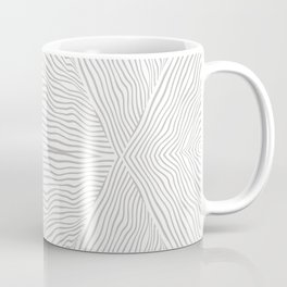 Boho, Safari, African, Pattern, Gray and White Coffee Mug