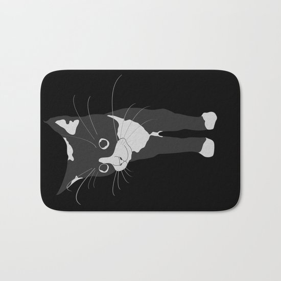 Black Kitty Bath Mat
