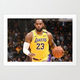 Le-Bron -James- Famous Basketball Art Print