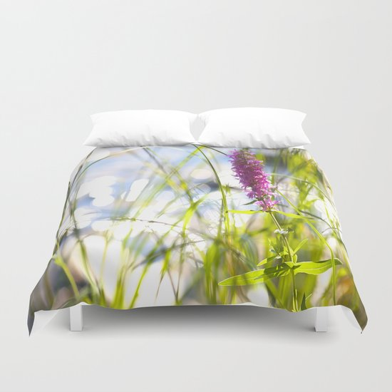Pink Flower At the Beach Duvet Cover