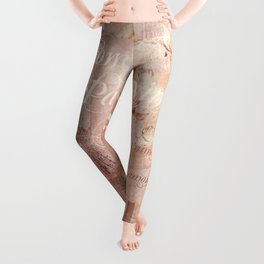 From Paris With Love In Salmon-Rosé Leggings