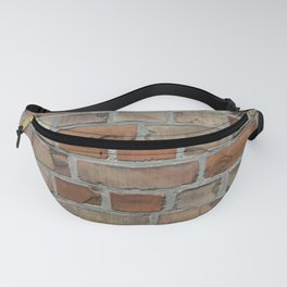 Vintage red brick wall texture Fanny Pack