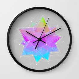 The Dots Will Somehow Connect (Geometric Star) Wall Clock