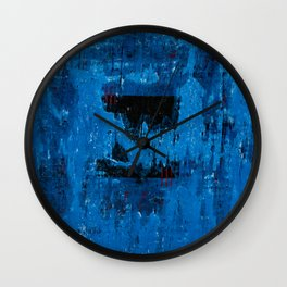 Blue Abyss (Blue Abstract) Wall Clock
