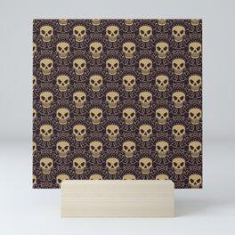 Punk Rock Skull Pattern Mini Art Print