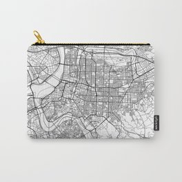 Taipei White Map Carry-All Pouch