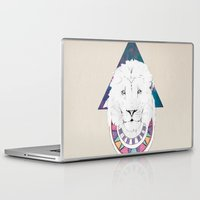 the lion king Laptop & iPad Skins featuring King Lion by Katell Desormeaux
