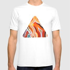 The Vivid Imagination of Nature, Layers of Agate Mens Fitted Tee MEDIUM White