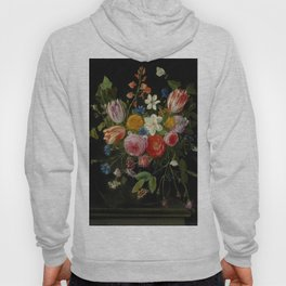 "Jan van Kessel de Oude ""Tulips, peonies, chicory, carnations, cherry blossom and other flowers"" Hoody"