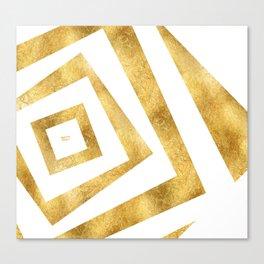 ART DECO VERTIGO WHITE AND GOLD #minimal #art #design #kirovair #buyart #decor #home Canvas Print