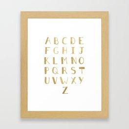 Fawn Uppercase ABCs Framed Art Print