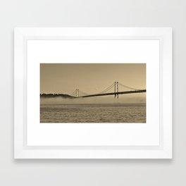 Foggy Bay Framed Art Print