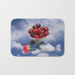 Cherries from heaven Bath Mat