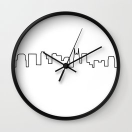 Nashville, TN City Skyline Wall Clock