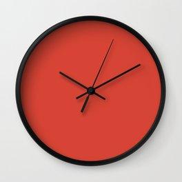Deep Coral Wall Clock