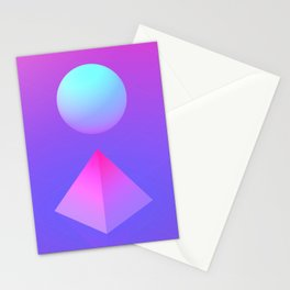 Gradient Shapes Stationery Cards