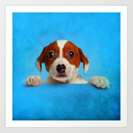 Cute Jack Russell Terrier Puppy Art Print