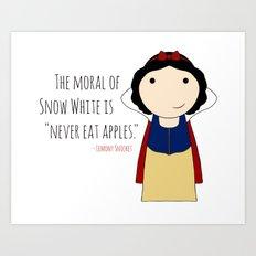 Snow White: Never Eat Apples Art Print