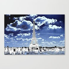 Tower Tourists in Reverse Canvas Print