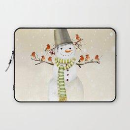 Snowman and Birds Laptop Sleeve