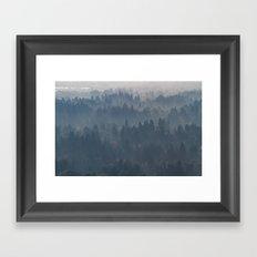Hazy Layers Framed Art Print