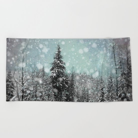 Snow Beach Towel