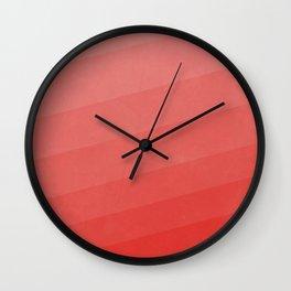 Shades of Vivid Red Wall Clock
