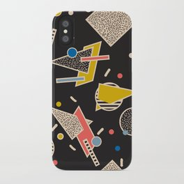 Memphis Inspired Design 8 iPhone Case
