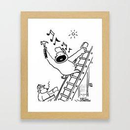 Singing Carpenter Ape Framed Art Print
