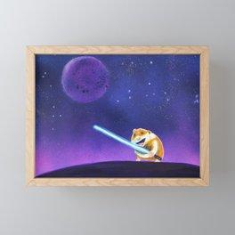 Hamster with light sword Framed Mini Art Print