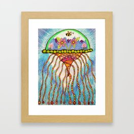 World Jellyfish Framed Art Print