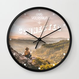 Get Yourself Connected Wall Clock