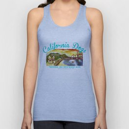I Love California Dogs National Dog Day Unisex Tank Top