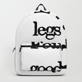 Four legs good, two legs bad | George Orwell Shirt Backpack