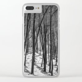 Through the Snowy Beech Wood Clear iPhone Case